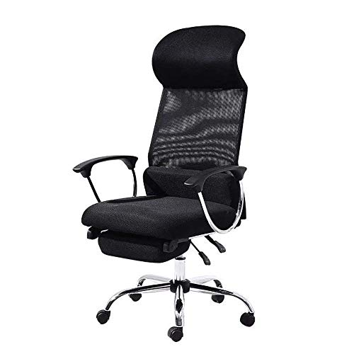 ykw Gaming Chair Simple Ergonomic Office Chair Reclining Chair Lifting Rotary Pulley Chair Breathable Mesh Laptop Desk