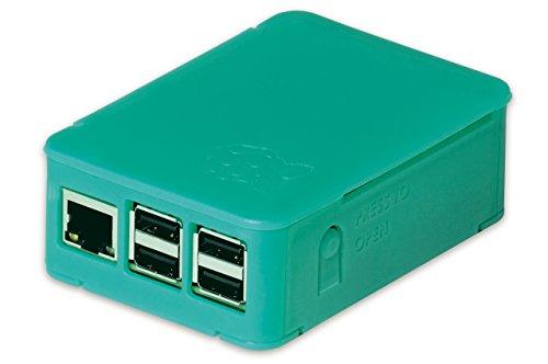 OKW - Boîte pour Raspberry Pi 3 et Pi 2 (modèle B), Pi (B+), Asus Tinker-Board, Case avec fentes d'aération, pliable sans outil, translucide vert menthe