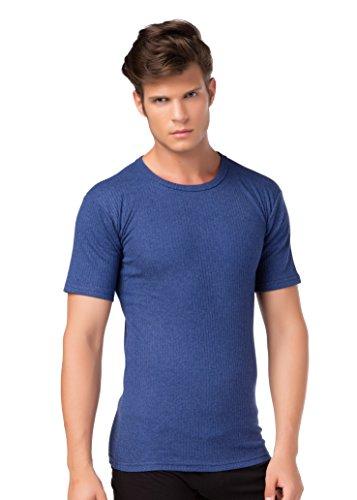 stylenmore Thermo-Unterhemd Kurzarm T-Shirt Thermounterwäsche Angeraut wärmend Größe XXL, Farbe dunkelblau