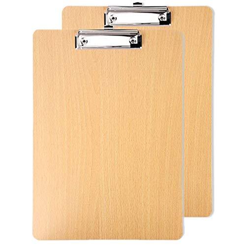 Klemmbretter, 2 Packungen A4 Holz Ordner Brett Verdickung für Schule Bürobedarf