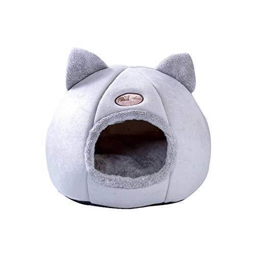 Portátil Profundo sueño confort en la cama de gato de invierno Canasta de estera para la casa de gatos Productos para gatos Mascotas Tienda Cojada acogedora CAMAS DE CAVA INTERIOR PET NEST para conejo