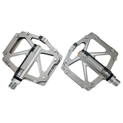 XYXZ Pedales de Plataforma para Bicicleta Pedal de Bicicleta Duradero, Pedales híbridos de 3 rodamientos ultraligeros Antideslizantes Pedales de rodamiento sellados 9/16 Accesorios de ciclis