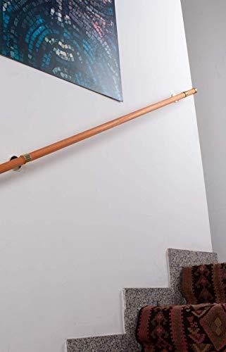 InCasa Corrimano L. 120 cm in Legno Ø 28 mm – Portata 80 kg – Completo