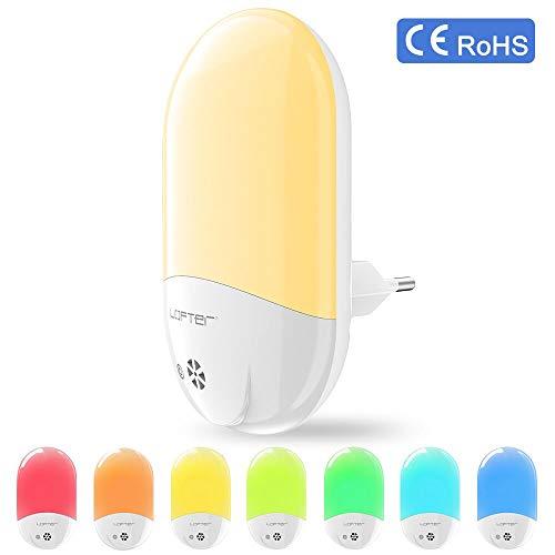 Veilleuse Enfant LED LOFTer Veilleuse Prise Electrique Multicouleur Automatique Plug-And-Play Veilleuse Secteur Avec Capteur Crépusculaire (1 pièce)