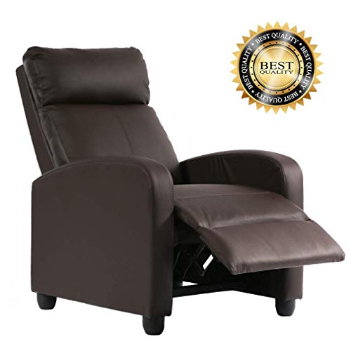 FDW Recliner Chair PU Single Sofa Modern Reclining Seat Home Theater Seating for Living Room...