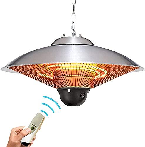 WXking Calentador de Patio Paraguas eléctrico, Montaje en Techo IP Prueba de Agua certificada, Salida de Calor Variable o Uso Interior, británico (Color : Britishstandard)