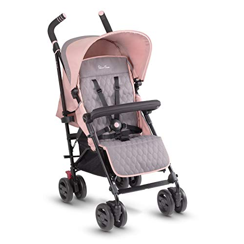 Silver Cross Pop stroller, compact and lightweight fully reclining baby to toddler pushchair - Bloom