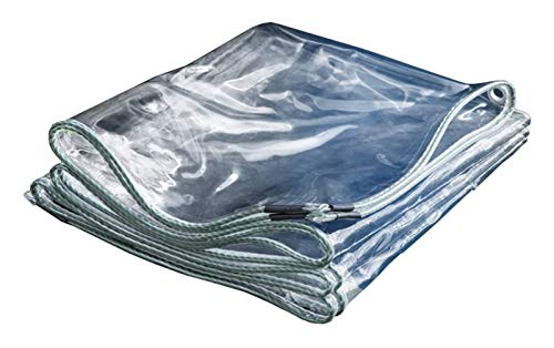 Glass Clear Tarpaulin Tarpaulin Waterproof Transparent Heavy Duty Thickened 0.3Mm, Clear PVC Protective Cover For Rain Cloth (Size : 3X4m)