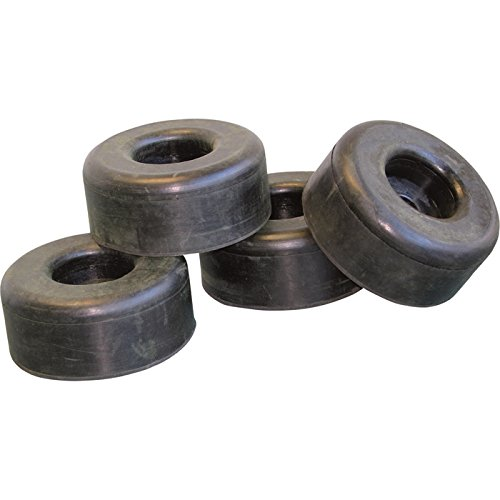 General Pump Pressure Washer Replacement Rubber Feet - 2.5in. Dia. x 1in. Set of 4, Model Number ND80008P