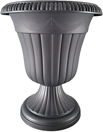 Vasi di plastica grandi per interni ed esterni, unici ed eleganti, vasi alti per fiori esterni grandi (nero)