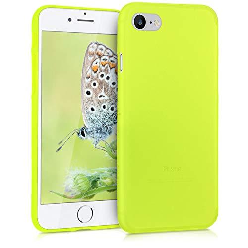 kwmobile Cover Compatibile con Apple iPhone 7/8 / SE (2020) - Custodia in Silicone TPU - Backcover Protezione Posteriore- Giallo Fluorescente