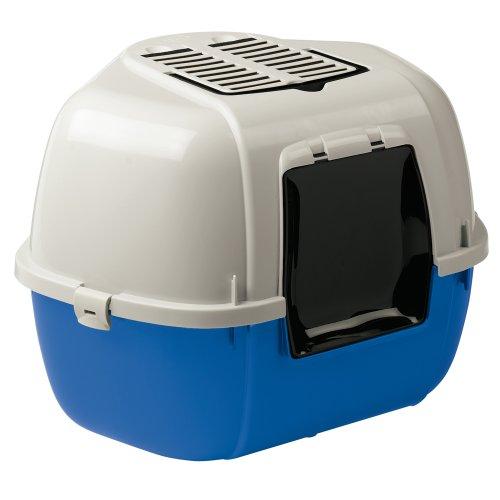 Ferplast 72038099W1 Katzentoilette MIKA, Maße: 57,5 x 51,5 x 42 cm, blau