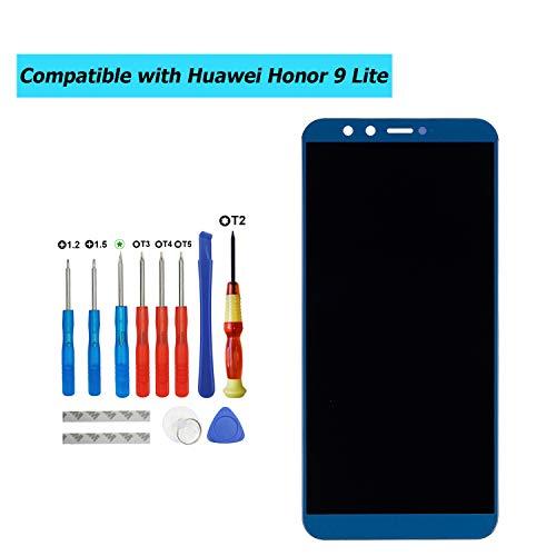 Upplus - Pantalla LCD de Repuesto Compatible con Huawei Honor 9 Lite LLD-AL00,LLD-AL10,LLD-TL10,LLD-L31, con Kit de Herramientas (Azul)
