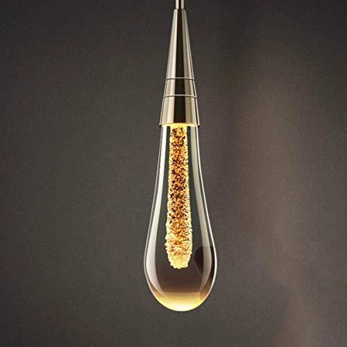 DKORP Lámpara Moderna de la Columna de la lámpara de la decoración de la cabecera del Dormitorio del diseñador de la Personalidad Creativa, lámpara de Cristal pequeña
