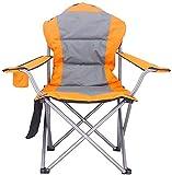 Outdoor-Freizeit Padded Folding Camping Stuhl Heavy Duty High Back Directors Becherhalter Cotton Handlauf Strand Oxford Cloth Stühle Cupholder Design