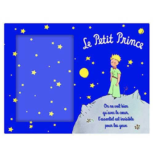 Le Petit Prince [Q3384 - Cadre Verre Bleu - 25x22 cm (Photo 10x15 cm)