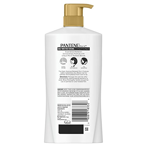 Pantene Pro-V Daily Moisture Renewal Conditioner, 28.9 fl oz(Packaging May Vary)