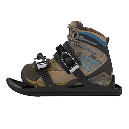 SOAR Raquetas Nieve Zapatillas de Patines portátiles para la Nieve The Short Skiboard Snowblades Skiking Ajustable Trineo para Hombres Mujeres Universal Sports Ski Shoes (no Incluye Zapatos)