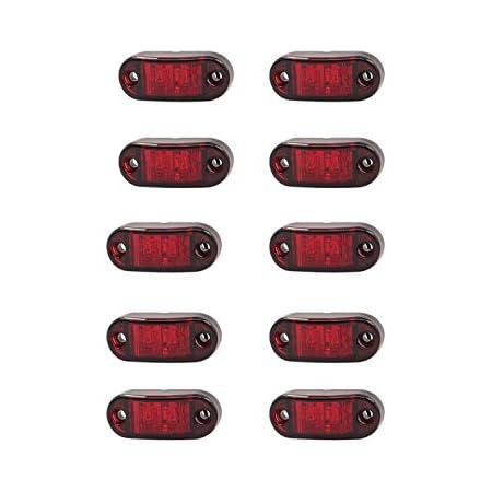 Hehemm 2 Led Auto Auto Lkw Anhänger Caravan Seitenmarkierung Licht Clearance Universal Lampe 10 30v Packung Mit 10 Auto