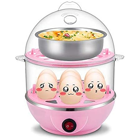 Shree Mart Double Layer Egg Boiler Electric Automatic Off 14 Egg Poacher for Steaming, Cooking, Boiling and Frying, (Multi Color)