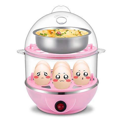 MJN ® Multi-Function Electric 2 Layer Egg Boiler Cooker & Steamer, Egg Boiler Electric Automatic Off, Double Layer Egg Boiler Poacher(Multicolor)