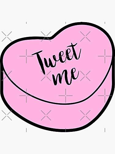 Love Tweet Me | Pink Heart Candy | Conversation Sticker - Sticker Graphic - Auto, Wall, Laptop, Cell, Truck Sticker for Windows, Cars, Trucks