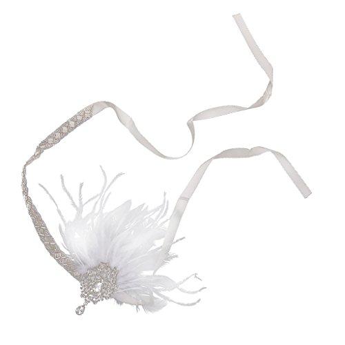 dailymall 1920 S 'flapper Great Headpiece Plumes Bandeau Cru Soirée Dansante