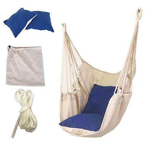 WOTEG Amaca sospesa, per adulti e bambini, in tela, adatta per dormitori di studenti, in cortile