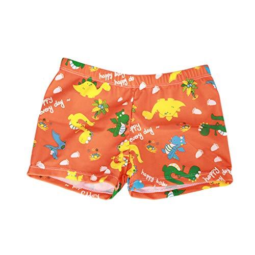 Culater 2019 Bambino Piccolo Ragazzo dei Bambini Costumi da Bagno Stampa Dinosauro Estate Costume da Bagno da Spiaggia (3-5 Anni, Orange)
