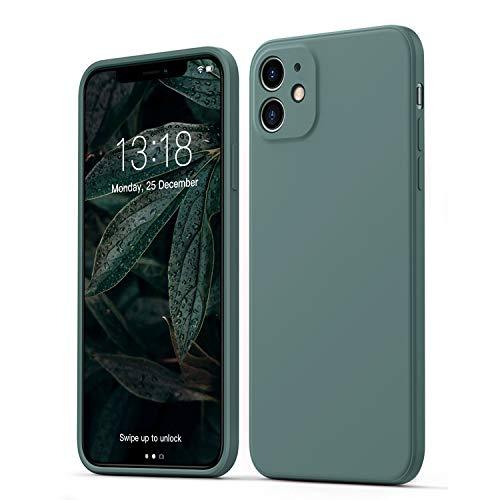 GOODVISH Hülle Kompatibel mit iPhone 11 | Ultra dünn Liquid Silicone Hülle | Kameraschutz & Displayschutz | 360° Voll abgedeckte stoßfeste Handyhülle für iPhone 11-6,1 Zoll | Grün