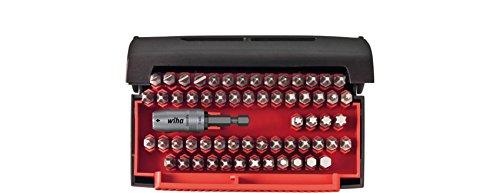 Wiha Bit Collector Standard 61-teilig/Gemischtes Schrauberbit-Set inkl. Schnellwechselhalter / 1/4