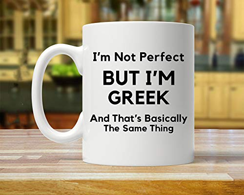 Griechenland-Geschenk, Geschenk für Griechische, Griechenland-Flagge, 325 ml Tasse, I Love Greece, griechische Kaffeetasse, Griechenland-Geschenk
