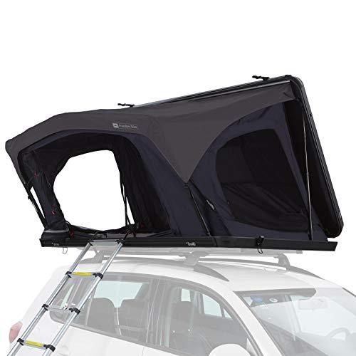 Qeedo Freedom Slim Hartschalen Dachzelt für 2 Personen (221 x 135 x 18cm), Autodachzelt mit Gasdruckfedern