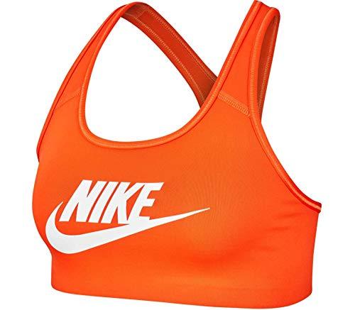 Nike Damen Swoosh Futura Bra Sport-BH, orange/weiß (Team Orange/White), S
