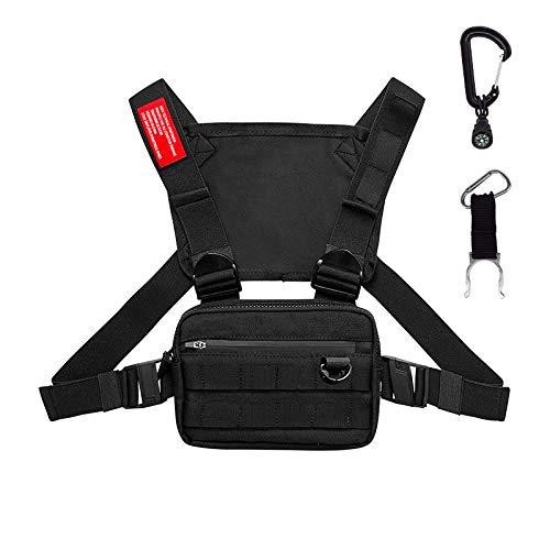 Keypower Direct Taktischer Lauf-Rucksack, Weste, Handy und Zubehör, leicht, für Spaziergänge, Radfahren (schwarz)