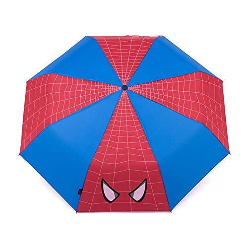 YSJJUSZ Paraguas Niños Plegable Paraguas araña Hombre capitán américa niño Paraguas Viento a Prueba de Viento Parasol al Aire Libre Regalo de Viaje Accesorios (Color : Spiderman)