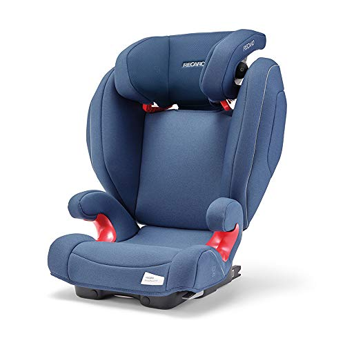 Recaro Kids, Siège Auto Monza Nova 2 SF Groupe 2/3 pour Enfants de 15 à 36 kg, et de 3 à 12 ans, Installation Universelle avec ou sans Connecteurs ISOFIX, Système de Sonorisation Intégré, Blue