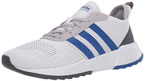 adidas Men's Phosphere Running Shoe, White/Royal Blue/Grey, 9