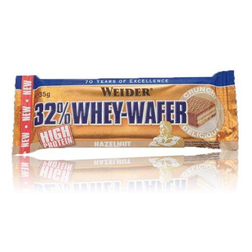 Weider Whey Wafer Nocciole chiavistello, confezione da 4(4x 35g)