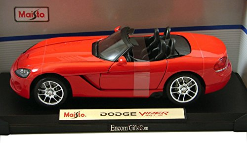 Maisto Die Cast 1:18 Scale Red 2003 Dodge Viper SRT-10