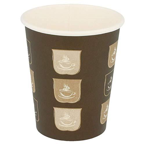 Glazen warme dranken 1 wand 240 ml bruin fijn karton - 1000 Un.