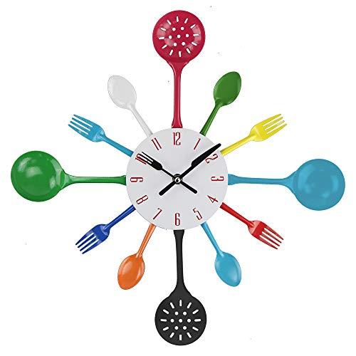 """Reloj de pared, timelike 16""""metal Cocina Cubertería utensilios de cocina cuchara tenedor reloj de pared creativo moderno decoración del hogar reloj de pared de estilo antiguo"""