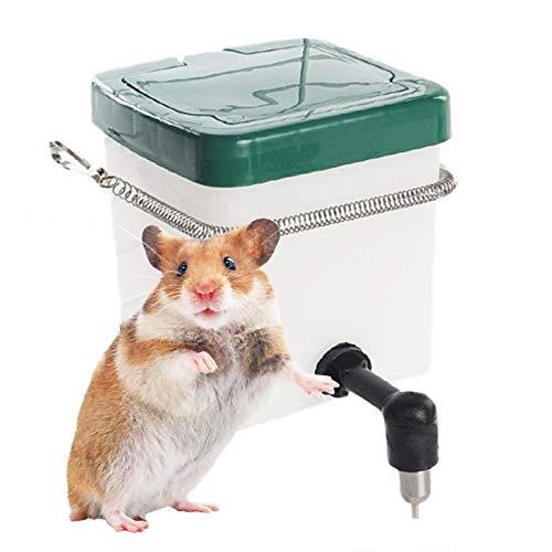 Easy-topbuy Comedero Y Bebedero Automática para Mascotas, Fuente De Agua para Mascotas Dispensador para Mascotas para Conejos, Hámsters, Conejillos De Indias, Conejos, Hurones, 1L / 0.5L