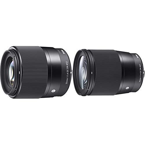 Sigma 16mm F1,4 DC DN Contemporary Objektiv (67mm Filtergewinde) für Sony-E Objektivbajonett & 30mm F1,4 DC DN Contemporary Objektiv (52mm Filtergewinde) für Sony-E Objektivbajonett