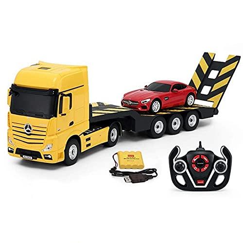 J-Clock Camión RC 1:20, Modelo camión ingeniería con Control Remoto eléctrico 2,4G, Juguete para niños, Juguetes para niños y niñas
