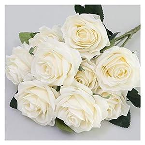 XIONGHAIZI Artificial Silk 1 Bunch French Rose Floral Bouquet Fake Flower Arrange Table Daisy Wedding Flowers Decor Party Accessory Flores