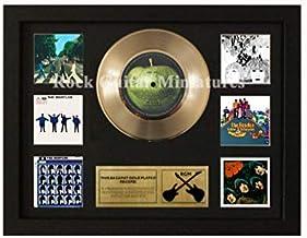 Unbekannt Rock Guitar Rgm1421 The Beatles 24 Gold Disc - Miniaturas (7,62 cm, con Marco Shadowbox)