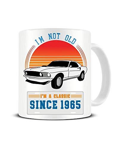 Ich Bin Nicht alt - ich Bin EIN Klassiker - 1965 - Ford Mustang - 60 's - Keramik Kaffeetasse - Teebecher - Große Geschenkidee