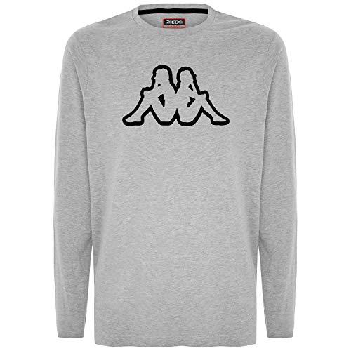 Kappa Logo ZABIAR, T-Shirt Uomo, Grigio, L