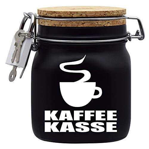 Spardose Kaffekasse Geld Geschenk Idee Schwarz M